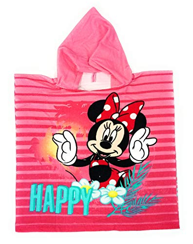 Poncho Minnie Mouse Disney - Capa de Baño Minnie Mouse Microfibra