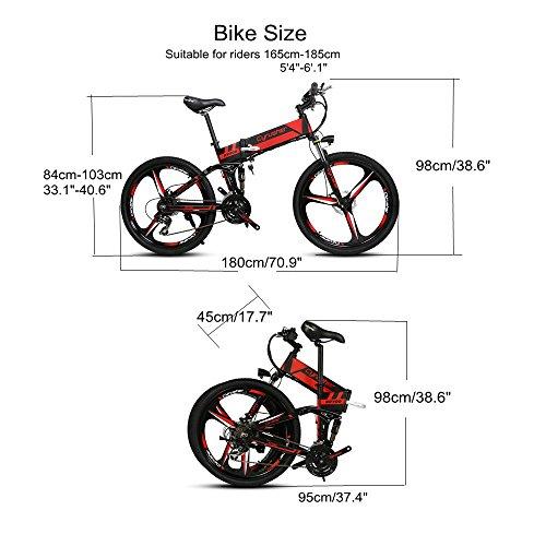Cyrusher® XF700 Mans Folding Electric Bike 17 X 26 Inch Mountain ...