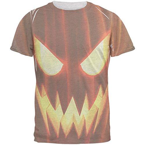-O-Lantern Kostüm Herren-T-Shirt Heather White LG (Jack White Halloween Kostüm)