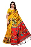 Oomph! art silk with blouse piece Saree (stbirdyellow_ Medallion Yellow_ FS)