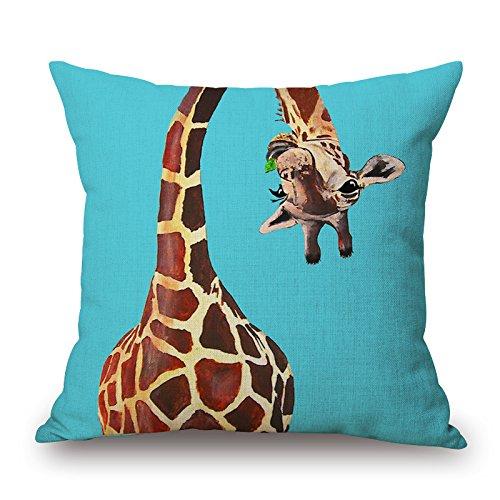 mnsnagdsdd cotone e lino Giraffa Serie federa