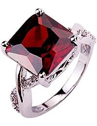 YAZILIND anillo CZ piedra Band--inoxidable-Rhinestone nupcial-joyas para mujeres