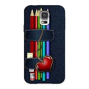 Denim Pencil Print Back Case Cover for Samsung Galaxy S5