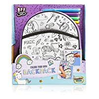 KreativeKraft Colour Your Own Unicorn Bag With Felt Tip Pens, Paint Your Own Unicorn Craft Sets For Girls, All In One Kids Activity Packs Girls Toys, Great Gift Idea or Party Bag Filler For Girls