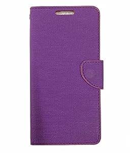 Ceffon Flip Cover Case For Infocus M680-Purple