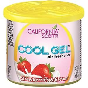 California Cool Gel Strawberries and Cream Air Freshener for Car (126 g)