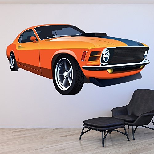 dodge-challenger-classic-car-colour-wall-stickers-transport-art-decals-decor-available-in-8-sizes-gi