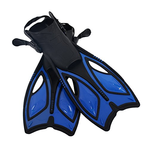 Homyl Verstellbare Schwimmflossen Taucherflossen Trainingsflossen für Männer und Frauen - Blau M