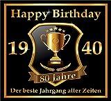 RAHMENLOS 3 St. Aufkleber zum 80. Geburtstag: 1940 der Beste Jahrgang Aller Zeiten - Selbstklebendes Flaschen-Etikett. Original Design