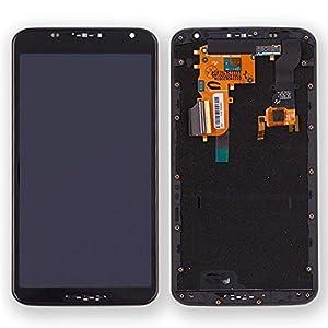 Display LCD Komplett Einheit mit Rahmen für Motorola Google Nexus 6 XT1100 Reparatur Schwarz + Werkzeug Opening Tool