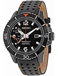Seiko Herren-Armbanduhr XL Sportura Kinetic Analog Quarz Leder SRG021P1