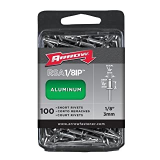 Arrow RSA1/8IP Short Aluminum 1/8-Inch Rivets, 100-Pack by Arrow Fastener (English Manual)