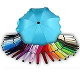 BAMBINIWELT Sonnenschirm für Kinderwagen Ø68cm UV-Schutz50+ Schirm Sonnensegel Sonnenschutz (Türkis)