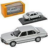 BMW 5er E12 520 Limousine Silber 1. Generation 1972-1981 1/43 Minichamps Maxichamps Modell Auto mit individiuellem Wunschkennzeichen