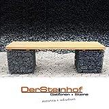 DerSteinhof Gabionen + Steine verletzungsarme Sitzbank-Gabione Gabionenbank aus Douglasie oder Eiche (Douglasie, 202cm)