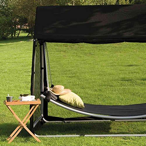 Siena Garden Liegeflächenbezug schwarz zu Hängematte Ranotex-Textilfaser 2 * 1