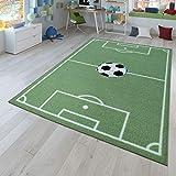 TT Home Tappeto da Gioco per la cameretta dei Bambini con Design del Gioco del Calcio, in Verde, Größe:140x200 cm