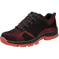 COOU Zapatos de Trabajo para Hombre Comodos deportvos s1 Zapatos de Seguridad para Mujer Acero en la Punta Unisexo