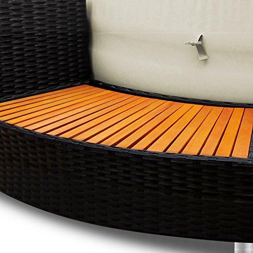 xxl jacuzzi whirlpool umrandung polyrattan pool rahmen verkleidung poolumrandung. Black Bedroom Furniture Sets. Home Design Ideas