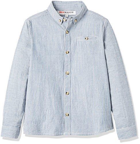 REDWAGON Stripe Shirt  camisa Niños Azul Blue 4 años