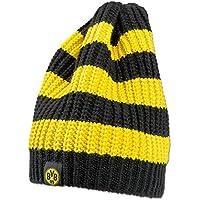 "Borussia Dortmund Strickmütze ""Blockstreifen"", Schwarzgelb, Polyacryl, BVB-Emblem (schwarzgelb)"