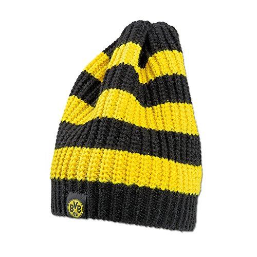 Borussia Dortmund Strickmütze Blockstreifen, Schwarzgelb, Polyacryl, BVB-Emblem one Size