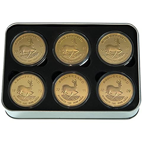 Gift-Set - Krugerrand Coins Collection - South Africa - gold plated - Joke Article
