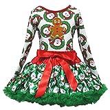 Robe de Noël Homme Pain d'épices L/S T-shirt Vert Père Noël Jupe Fille Lot de 1–8Y -  Vert - XL
