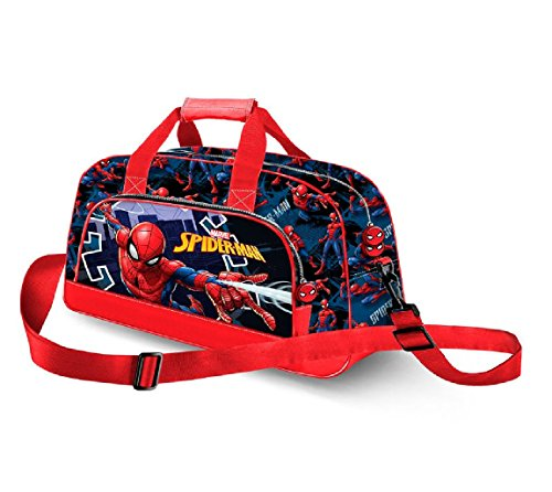 Karactermania Spiderman Hero Bolsa de Deporte Infantil, 45 cm, Azul