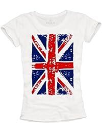 Union Jack - Camiseta con bandera de inglesa para mujer