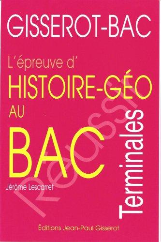 Histoire Geographie au Bac