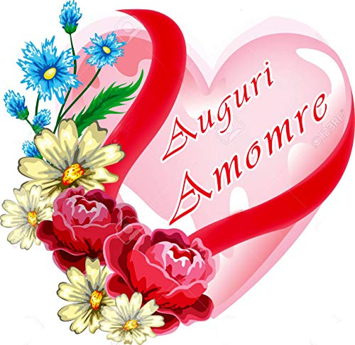 Wfwd cialda in ostia per torta cuore san valentino personalizzata, amore, love, cialde, ostie, torte, topper, mis. cm 20x22