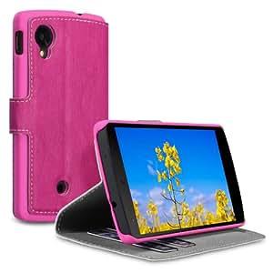 Covert Schutzhülle aus PU-Leder für LG Nexus5, mit Standfunktion, Hot Pink