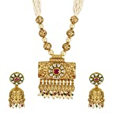 MUCH MORE Gorgeous Designer Gold Plated Polki Necklace...