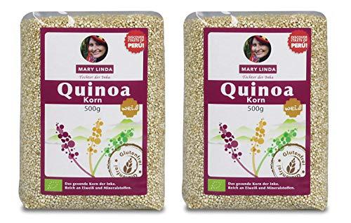 2 für 1: BIO Quinoa Korn (weiß) (2 x 500g) - glutenfrei