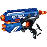 Spincart Blaze Storm Foam Bullet Blaster Manual Toy Gun Includes 10 Bullets