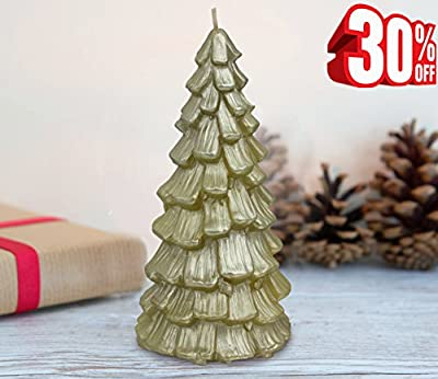 Clearance Sale! Christmas Table Decor Trees Candles H18CM Party Window Decorations Gifts 400g 50Hours Limited Offer by LA JOLIE MUSE