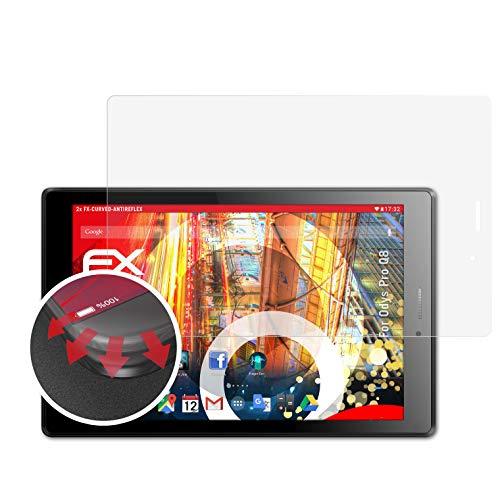 atFolix Schutzfolie passend für Odys Pro Q8 Folie, entspiegelnde & Flexible FX Bildschirmschutzfolie (2X)