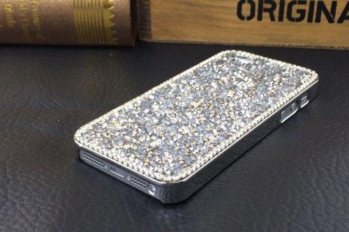Vandot Diamant Strass Housse Coque Case Cover PC le Plastique Etui pour Apple Iphone 6 6S 4.7 Pouces Protection Coque Haute quality Fashion Design Hard Back Bing Couvrir Couverture - Argent Silver gros diamant-Argent