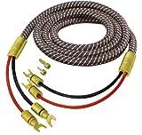 All4u BNL 3 High End Lautsprecherkabel-Set (2x vergoldete, auswechselbare Kontakte - 2x vergoldete, auswechselbare Kontakte) 2x 10 m schwarz
