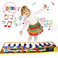 YORKOO Piano Mat for Kids Xylophone Set Musical Keyboard Toddler Dance Floor Play Mats Baby Instrument