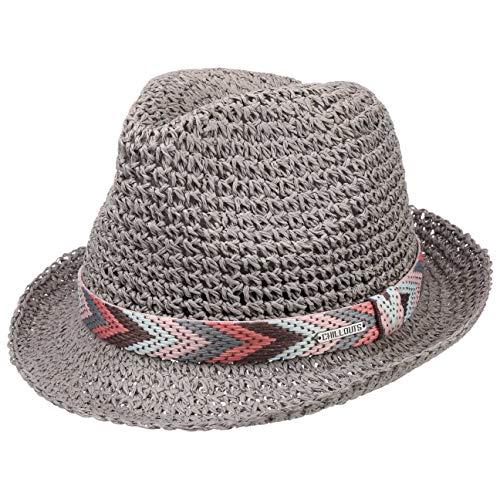 CHILLOUTS Medellin Hat in Grau S/M | Damen Hut | Fedora Trilby Knautsch Strohhut