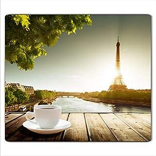 FTB Gsmarkt   Herdabdeckplatte Schneidebrett Spritzschutz 60x52   Bild auf Glas   Sicherheitsglas Gehärtetes Glas Bild   Motiv Paris