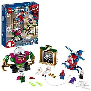 LEGO SuperHeroes MarvelSpider-Man LaMinacciadiMysterio, Giocattolo con Elicottero per Bambini, 76149 5702016619294 LEGO