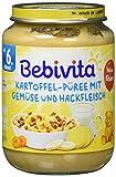 Bebivita Kartoffel-Püree mit Gemüse und Hackfleisch, 1er Pack (1 x 190g)