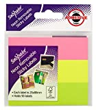 Snopake 15790s 25x 88mm amovible Sticky Notes–Neon