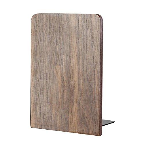 Einfache Natur schwarz Nussbaum Holz Buchstützen Schick Innovativ und sehr Standfest