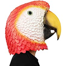 PartyCostume Máscara de Cabeza Humana de Fiesta de Traje Lujo de Halloween Loro Parrot