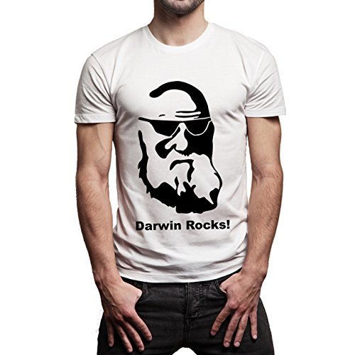 Darwin-Rocks-Stamp-Layer-1.jpg Herren T-Shirt Weiß