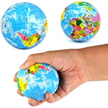 DcolorJuguete de Bola Globo Mapa Mundial Alivio de Estres Espuma Elastica